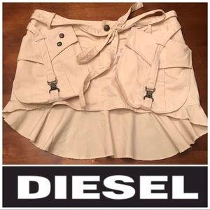 Diesel Khaki Cargo Skirt